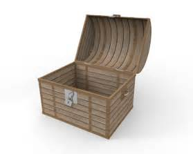 open the treasure chest free illustration wooden material