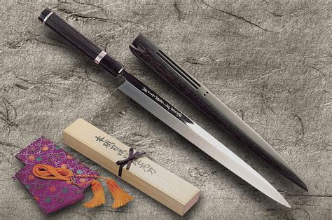 Top Of The Line Kitchen Knives The Top Line Of Sakai Takayuki Ginmaki Mirrored Honyaki Knives Hocho Knife Sushi Knife