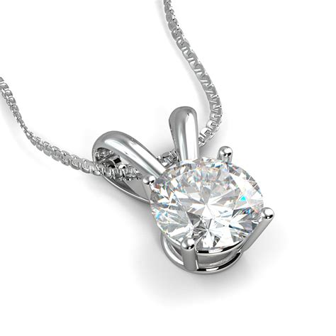 14k white gold pendant setting