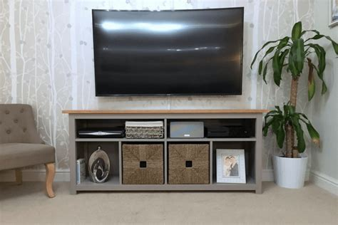 ikea hack media console hemnes console table restyled to tv unit ikea hackers