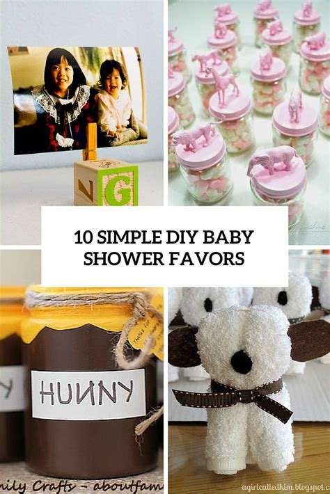 Diy Baby Shower Favors by 10 Simple And To Make Diy Baby Shower Favors