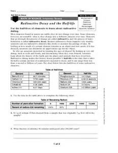 nuclear decay equations worksheet answers images