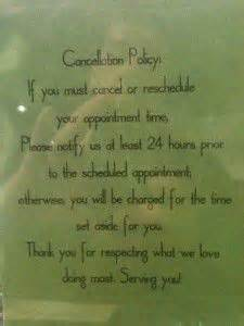 hairdressers dunedin no appointment 1000 images about cancellation policy on pinterest