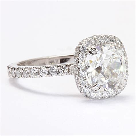 pave engagement rings 264798 pave halo engagement ring diamonds
