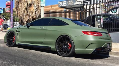 green mercedes wald mercedes s63 coupe in matte green