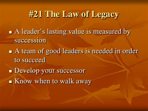 the 21 irrefutable laws of leadership follow them and people