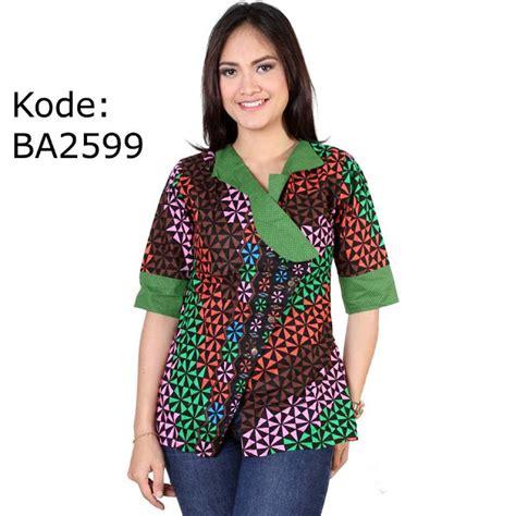 Baju Muslim Batik Wanita Gemuk 52 Model Baju Batik Wanita Gemuk Kekinian Populer 2018
