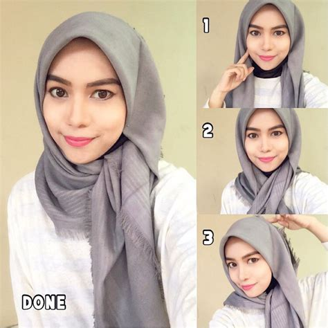simple hijab pattern this hijab style can be worn for any special occasion or