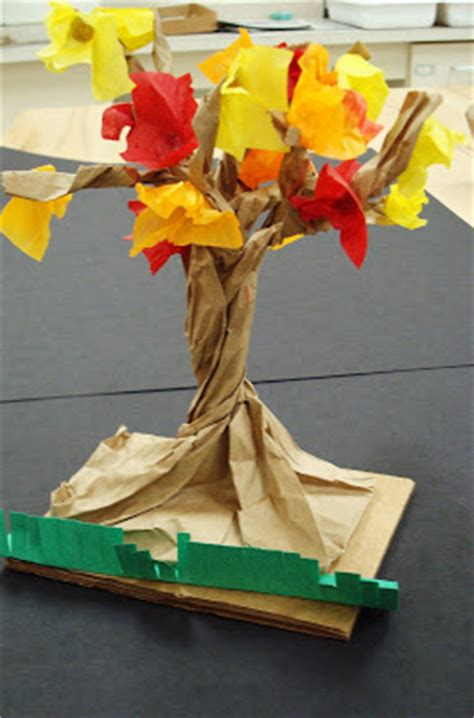 paper bag tree craft once upon a time fall tree tutorial
