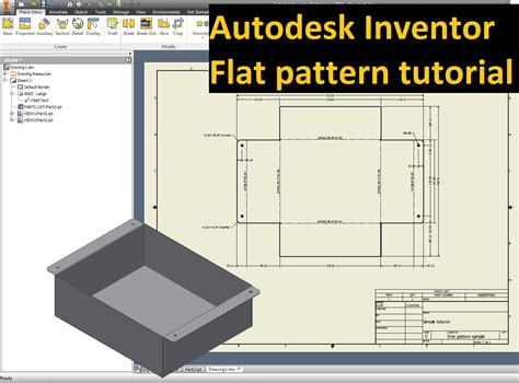 pattern sketch tool inventor autodesk inventor tutorial flat pattern to drawing idw