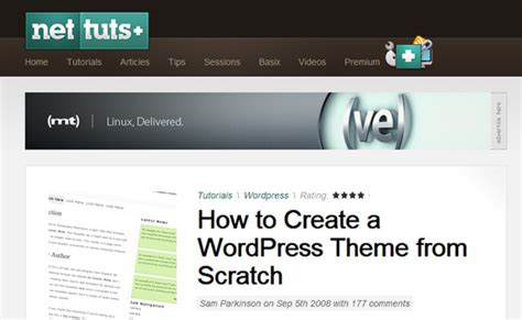 learn how to develop a wordpress theme from scratch www