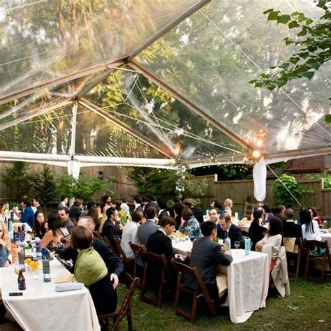 tented backyard wedding reception in pa weddings