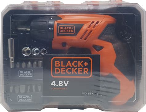 Black Decker 4 8v Screwdriver black and decker 4 8v screwdriver kit w 15 accessories