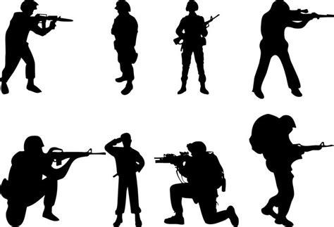 Digitec Army Blackwhite silhouette soldier cliparts co