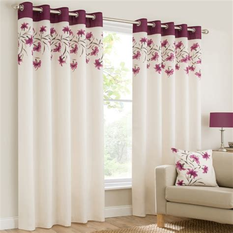 purple and cream curtains ring top eyelet fully lined curtains lily