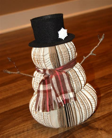 Etsy Handmade Books - items similar to handmade vintage recycled book snowman in