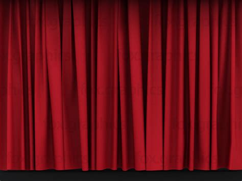 red drape red stage curtains fox graphics