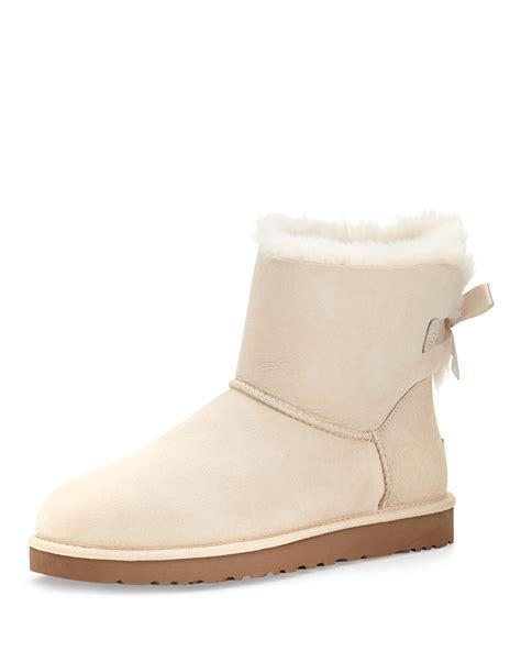 white ugg boots for ugg mini bailey bowback boot salt white in white salt