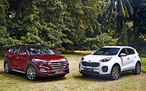 Who Makes Hyundai And Kia Test Hyundai Tucson 2 0 Versus Kia Sportage 2 0
