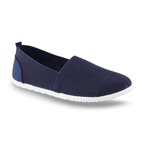 basic editions shoes basic editions s hesper navy slip on sneaker