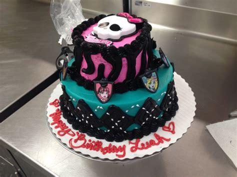 custom order monster high  tier cake  buttercream walmart cake lizzys cake