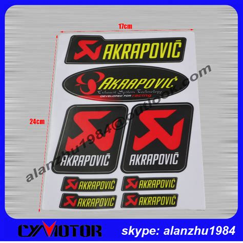 Ktm Racing Aufkleber Gro by Pin Akrapovic Sticker On