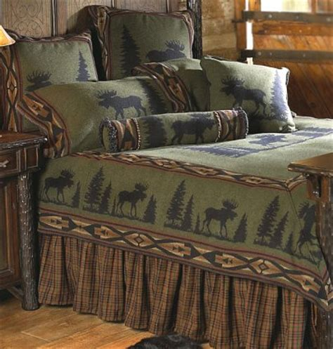 rustic cabin bedding in log homes everything log homes