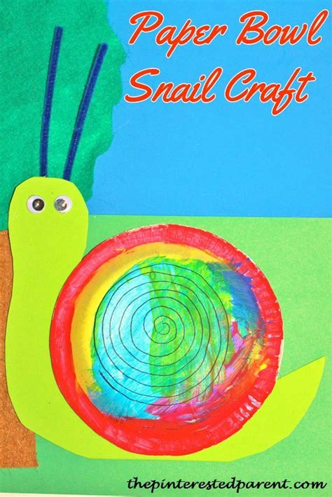 Snail Paper Plate Craft - snail crafts the pinterested parent
