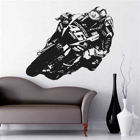 Ducati Wall Sticker by Details About Valentino Rossi Moto Gp Vinyl Wall Art