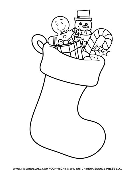 coloring page for christmas stocking free christmas stocking template clip art decorations