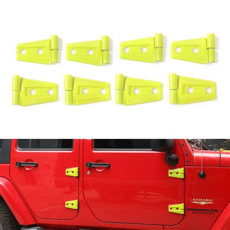 Frame Cover Sirip Victor Abs 1 24pcs set abs yellow green door hinge trim decoration frame cover for wrangler jk 4 door