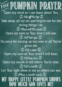 the pumpkin prayer poem and printables