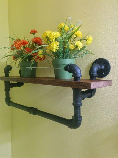 Towel Rack Ideas For Bathroom Diy Industrial Towel Rack With Oak Shelf