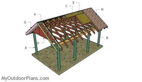 build  carport gable roof myoutdoorplans