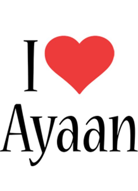 ayaan logo  logo generator  love love heart