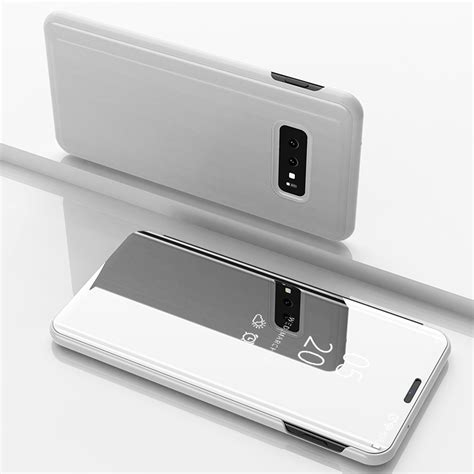 Samsung Galaxy S10 Zoomer by New Samsung Galaxy S9 S10 Plus Smart View Mirror Leather Flip Stand Cover Ebay