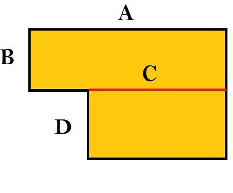 area of a square image gallery l shaped area