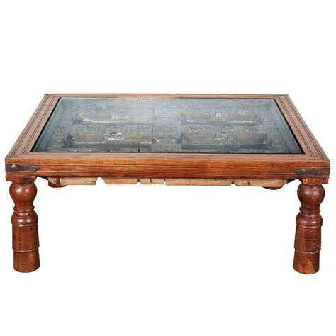 Coffee Table India Indian Teak Coffee Table For Sale At 1stdibs