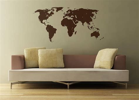 wall sticker map of the world world map wall stickers by the binary box
