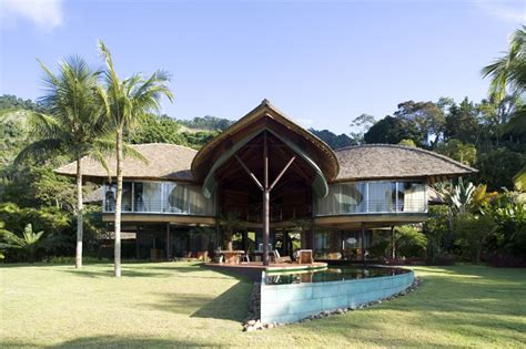 tropical house design leaf house in brazil