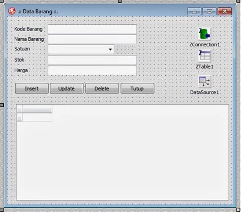 membuat database mysql console insert edit delete database mysql dengan delphi