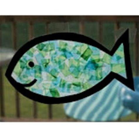 Tissue Paper Fish Craft - tissue paper fish craft