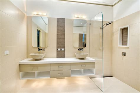 Modern Bathrooms Houzz Houzz Bathroom Ideas Bathroom Contemporary With Beige Tile Shower Beige Cabinets
