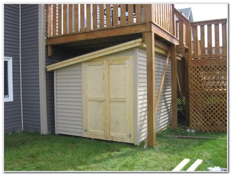Shed On Decking by Deck Storage Shed Decks Home Decorating Ideas