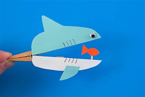 shark craft projects shark week shark crafts