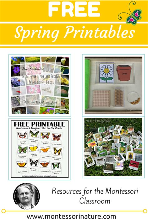 montessori printables for preschool free spring printables resources for the montessori