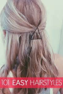 Easy Hairstyles On Pinterest by Easy Half Up Down Hairstyles Pinterest Best Hairstyle 2017