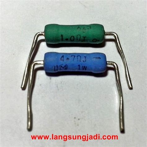 Resistor 5 1 Ohm 2w Metal Matsushita 47r 2w panasonic metal oxide resistor