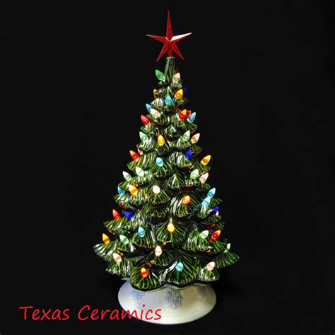 large fashioned lights fashioned ceramic tree large 18 inches