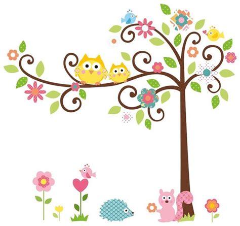 Cherry Blossom Tree Decals For Nursery by Im 225 Genes De Buhos Maestra Jardinera
